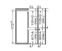Bosch холодильник 38a51 схема встройки